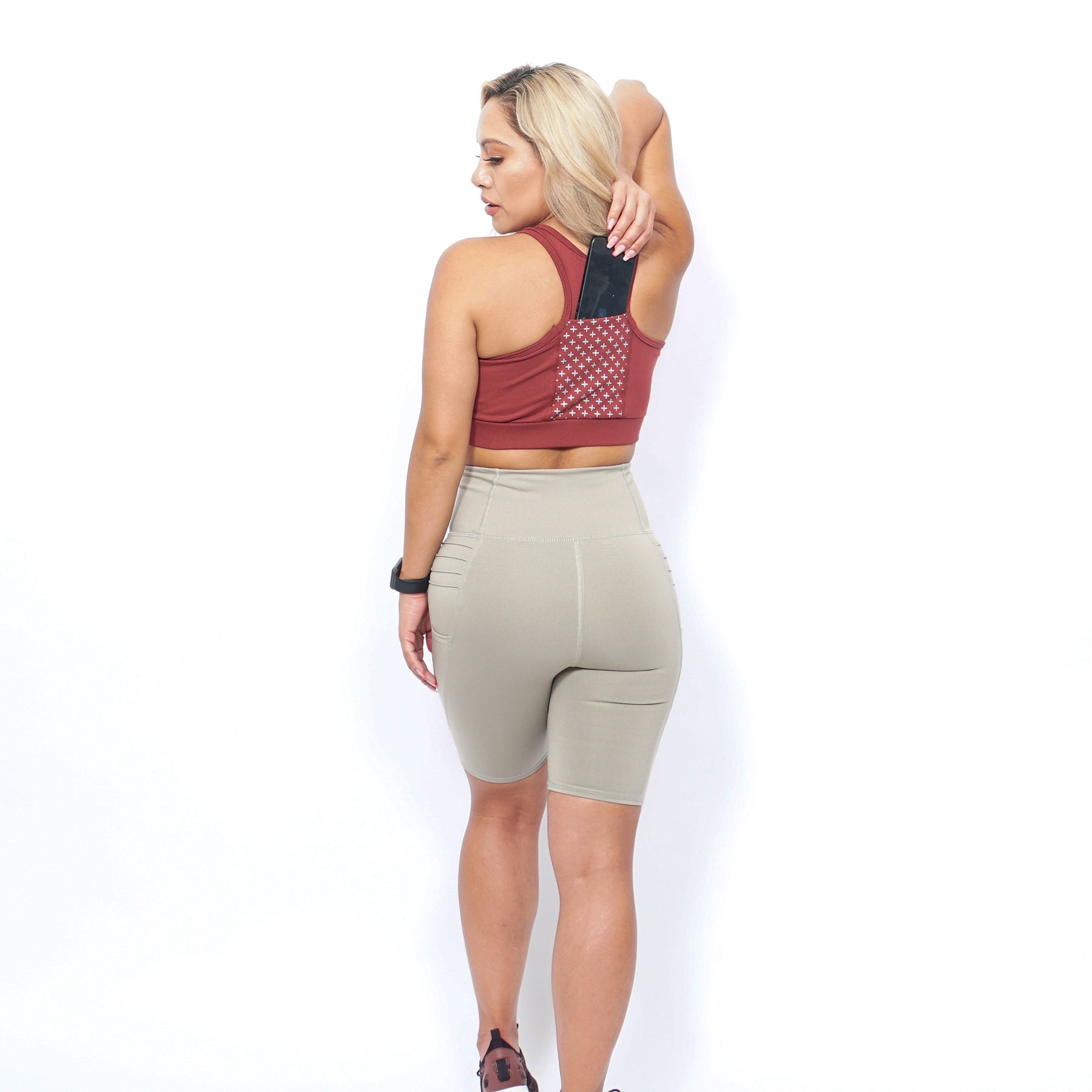 COMPRESSION HIGH WAIST BIKER SHORT