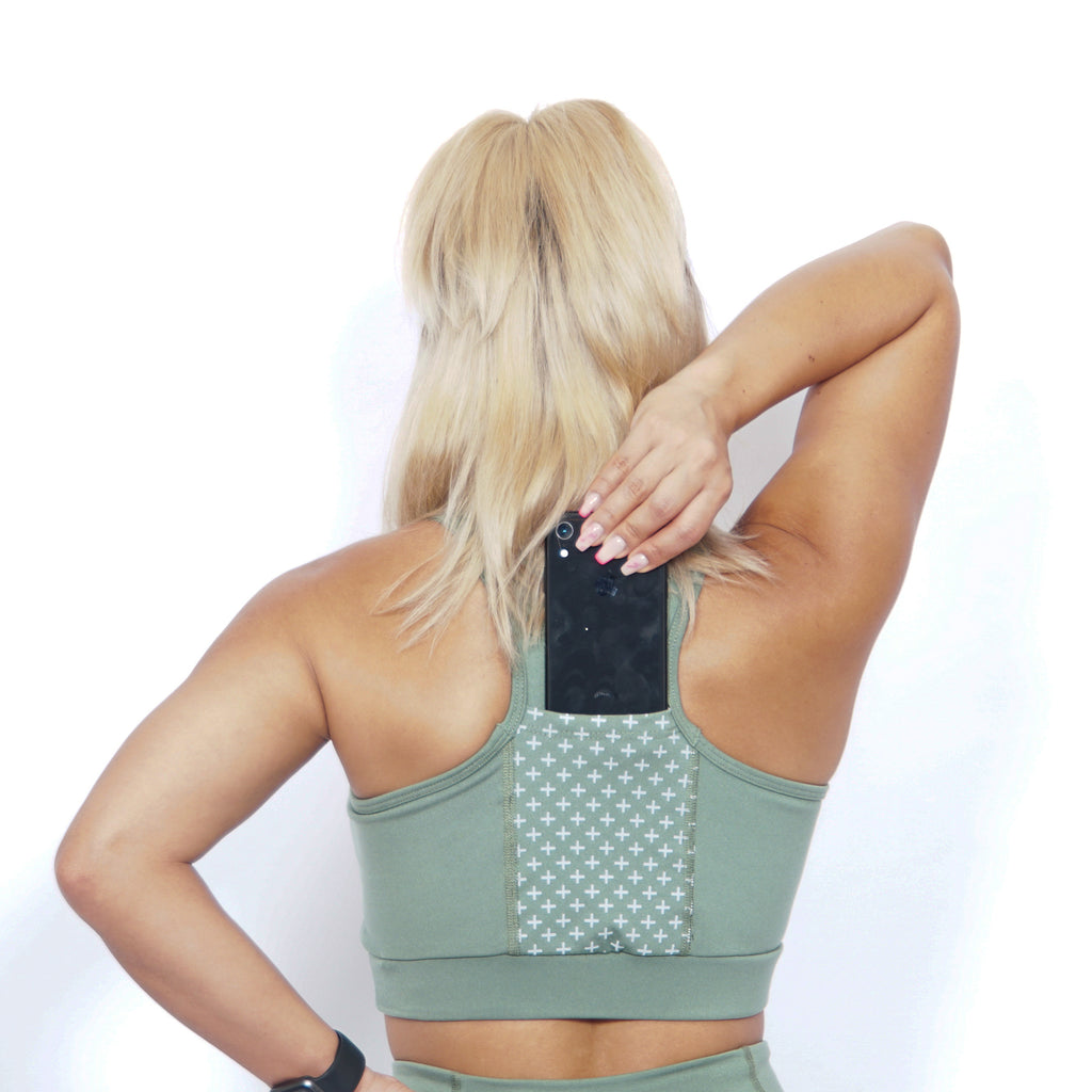 COMPRESSION POCKET BRA