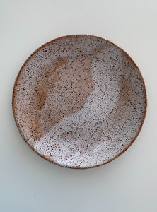 speckled plates and platters
