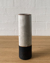 Load image into Gallery viewer, earthy white cylinder vaseART