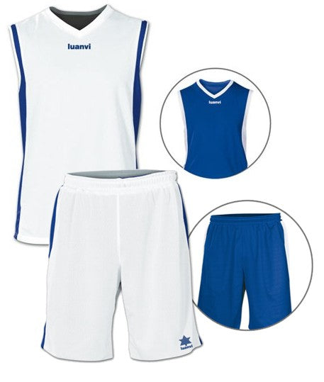 Luanvi Unisex Team Reversible Kit - Royal Blue/White LU-05125-05126-1517