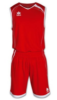 TEAMWEAR - Luanvi Mens Basket Master Basketball Kit - Red/White LU-06165-1084