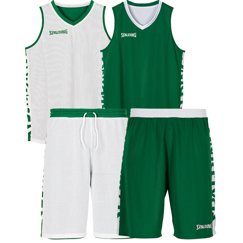Teamwear - Spalding Essential Reversible Kit (v2019) - Green/White - SP-3002025-04-3005025-04
