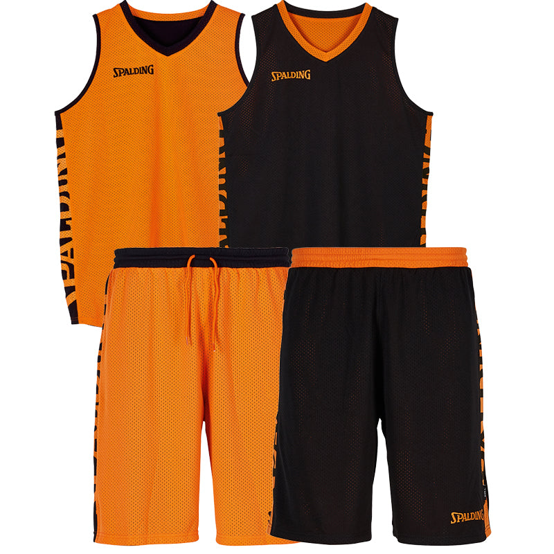 Teamwear - Spalding Essential Reversible Kit (v2019) - Black/Orange - SP-3002025-06-3005025-06