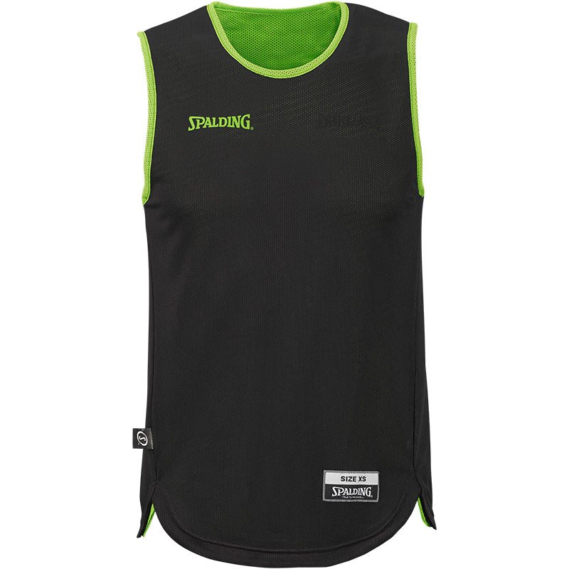 Spalding Youth Doubleface Reversible Basketball Kit - Green Flash/Black
