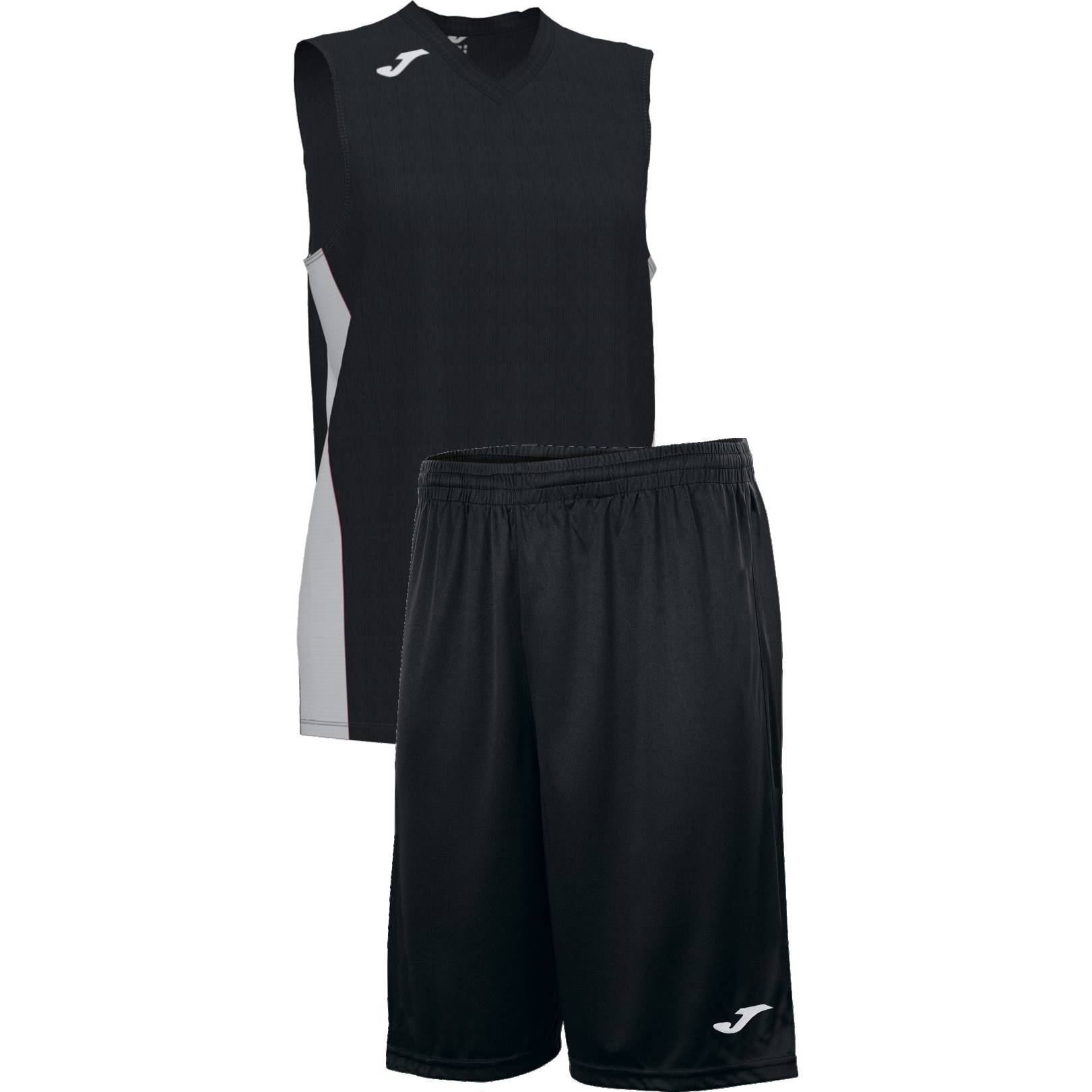 Teamwear - Joma Cancha Sleeveless  & Nobel Long Shorts Set - Black/White - JO-101573-102-101648-White