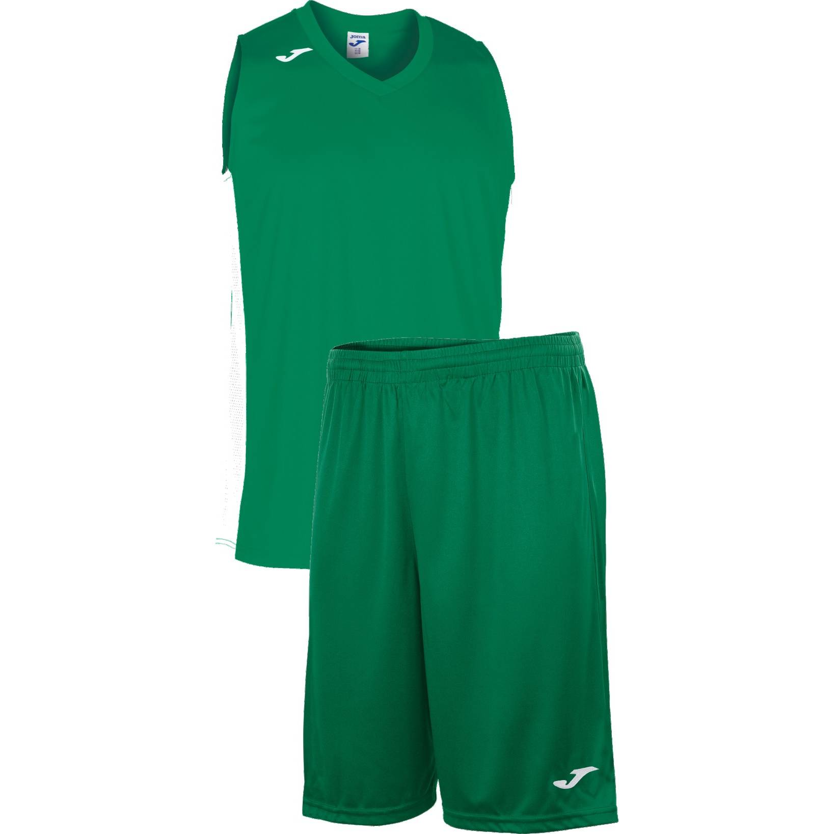Teamwear - Joma Cancha Sleeveless  & Nobel Long Shorts Set - Green/White - JO-101573-452-101648-White