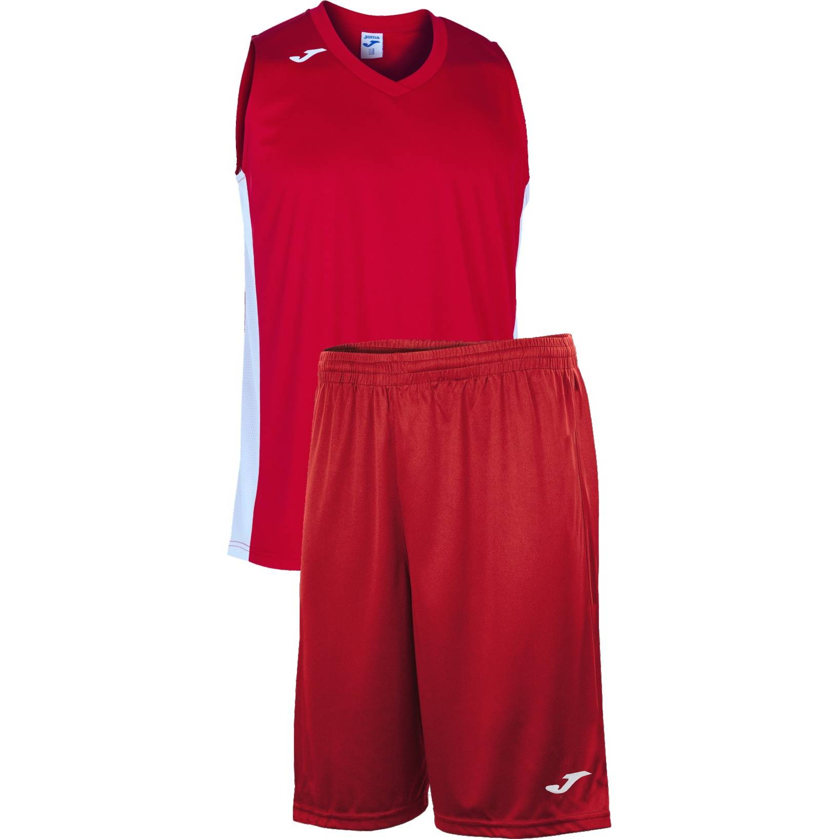 Teamwear - Joma Cancha Sleeveless  & Nobel Long Shorts Set - Red/White - JO-101573-602-101648-White