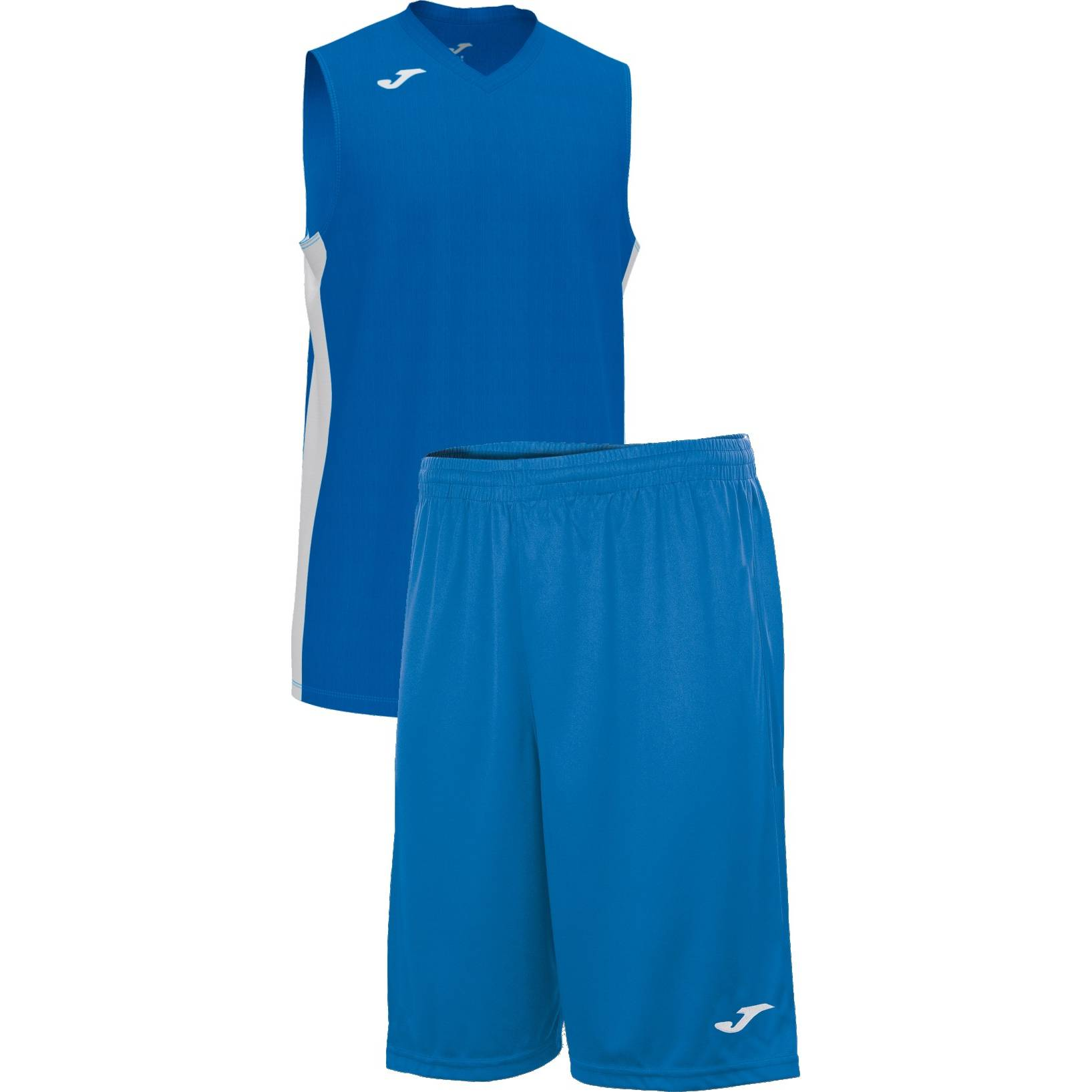 Teamwear - Joma Cancha Sleeveless  & Nobel Long Shorts Set - Royal Blue/White - JO-101573-702-101648-White