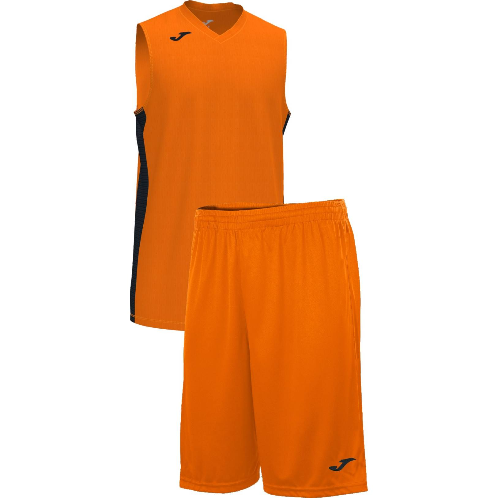 Teamwear - Joma Cancha Sleeveless  & Nobel Long Shorts Set - Orange/Black - JO-101573-881-101648-Black