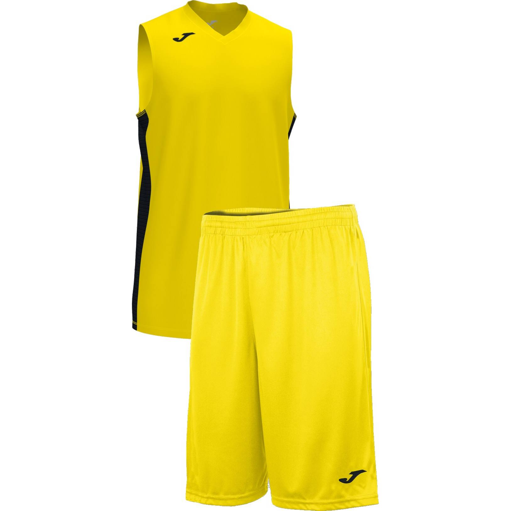 Teamwear - Joma Cancha Sleeveless  & Nobel Long Shorts Set - Yellow/Black - JO-101573-901-101648-Black