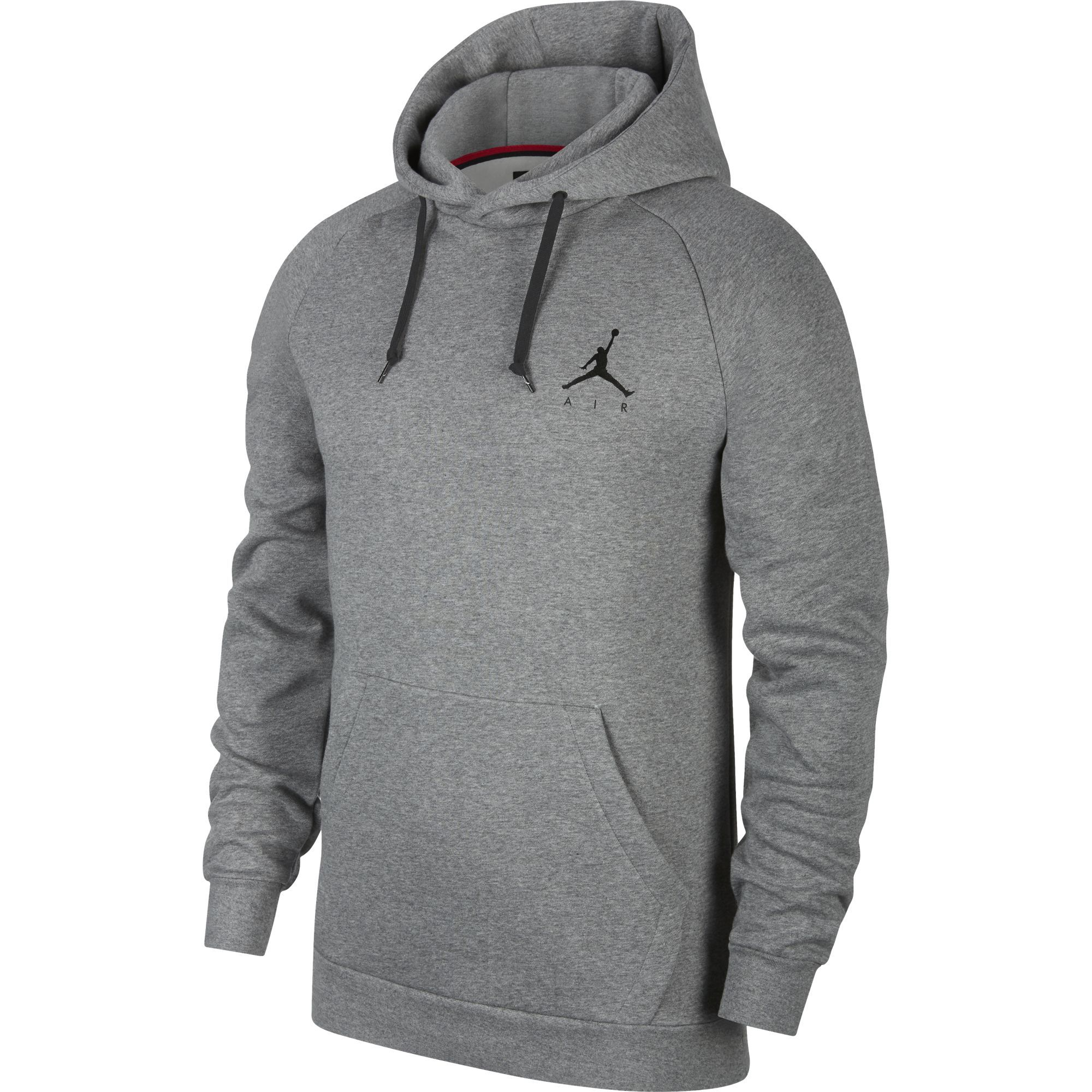 Nike Jordan Jumpman Pullover Fleece Hoodie - Carbon Heather/Black