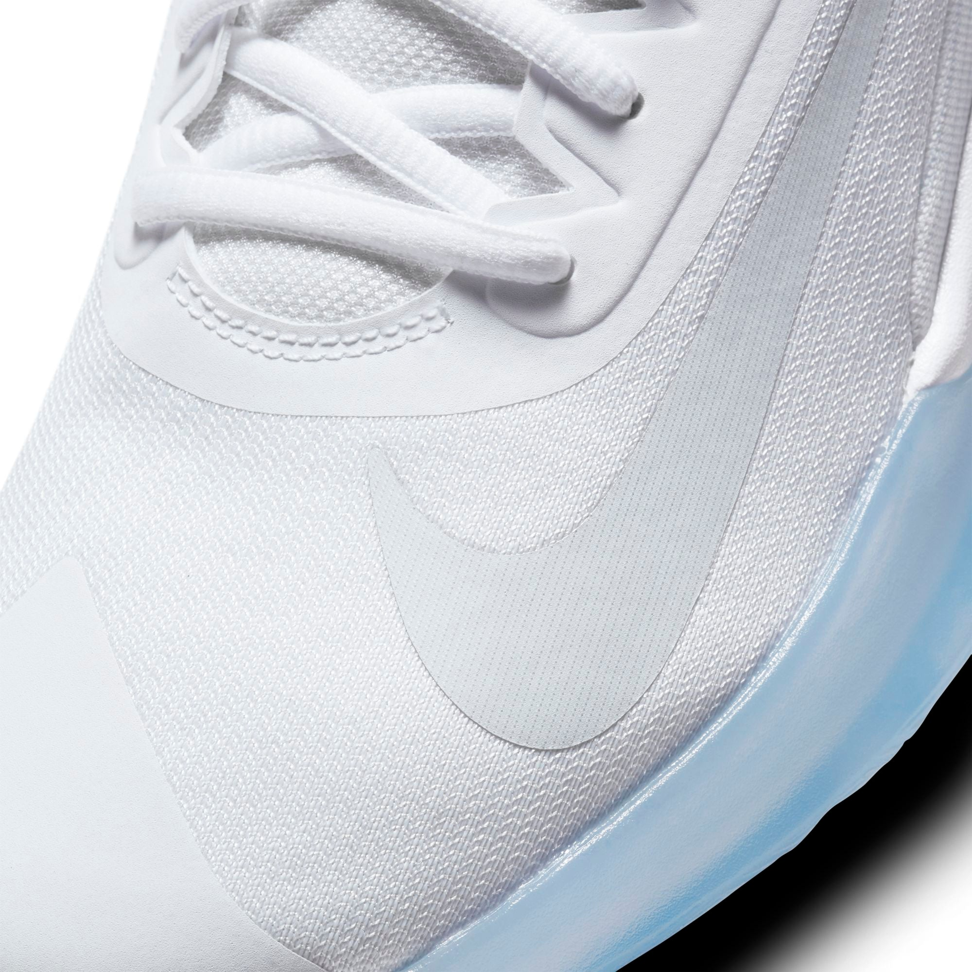 Nike Basketball Precision 4 Shoe - White/Pure Platinum/Clear NK-CK1069-100