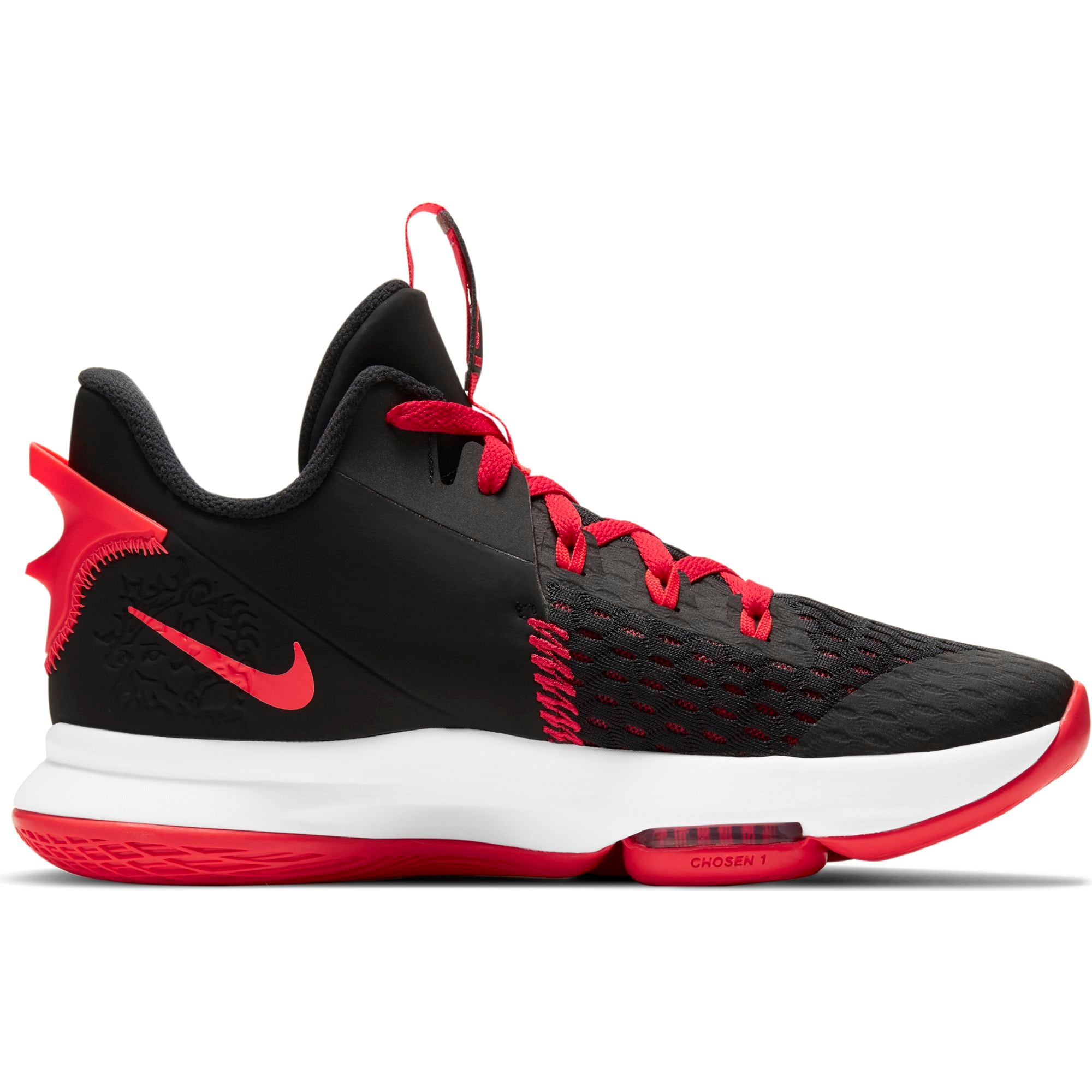 Nike Lebron Witness 5 Basketball Boot/Shoe - Black/Bright Crimson/University Red NK-CQ9380-005