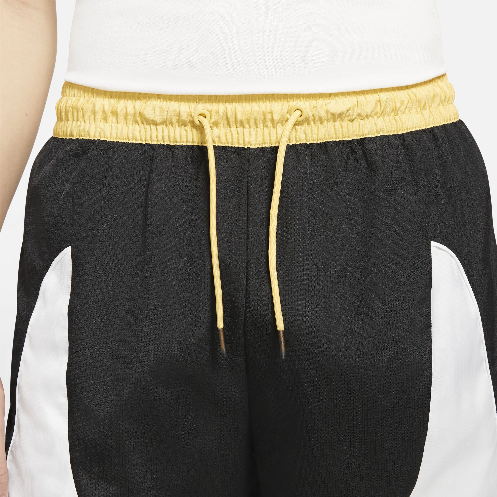 Nike Basketball Throwback Shorts - Black/White/Saturn Gold NK-CV1862-010