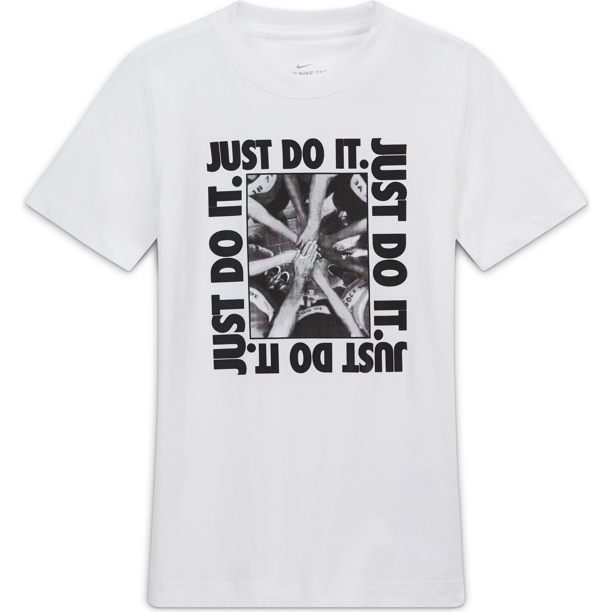 Nike Kids Sportswear JDI Hands In Tee - White - NK-CZ1818-100
