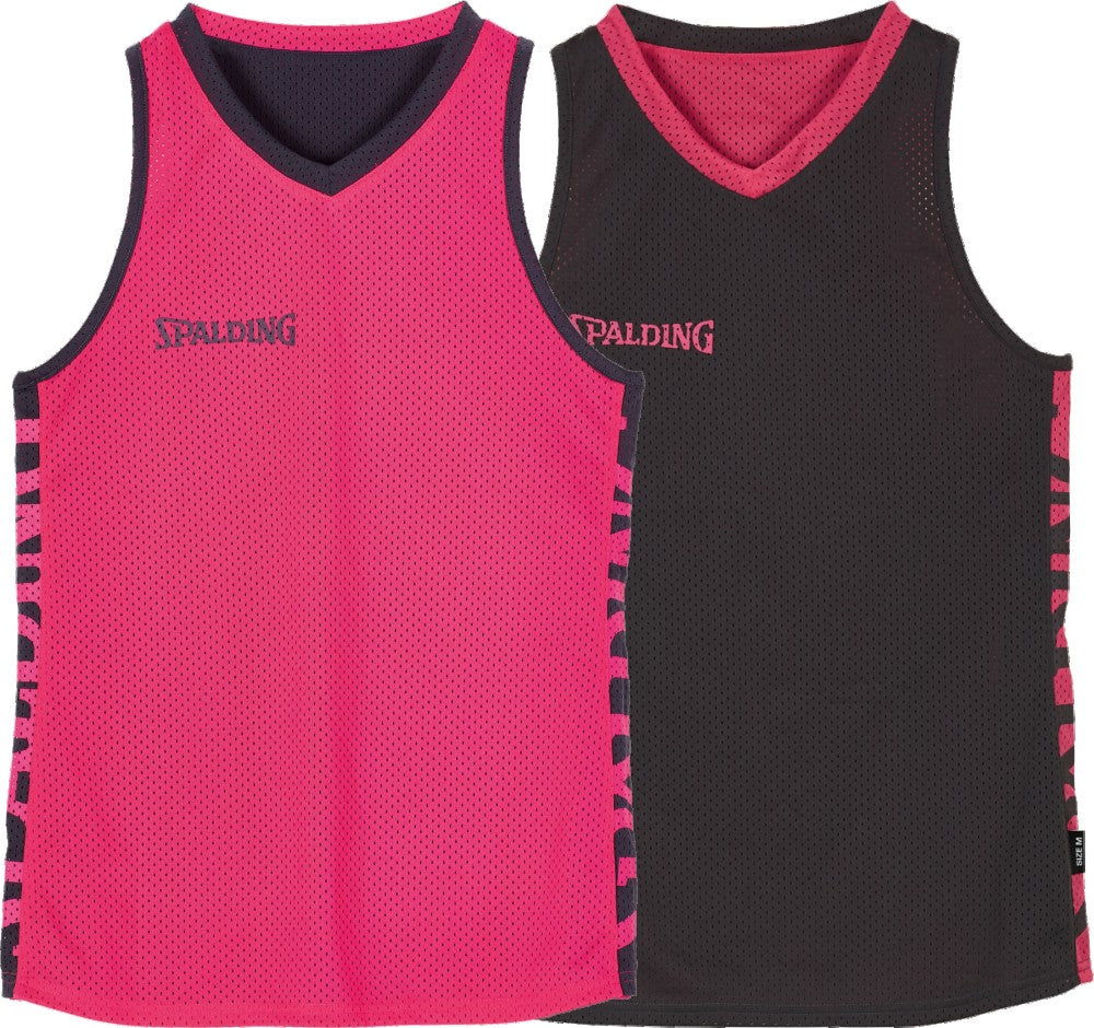 Teamwear - Spalding Women's Essential Reversible Tops (v2019) - Anthra/Pink - SP-3002036-07