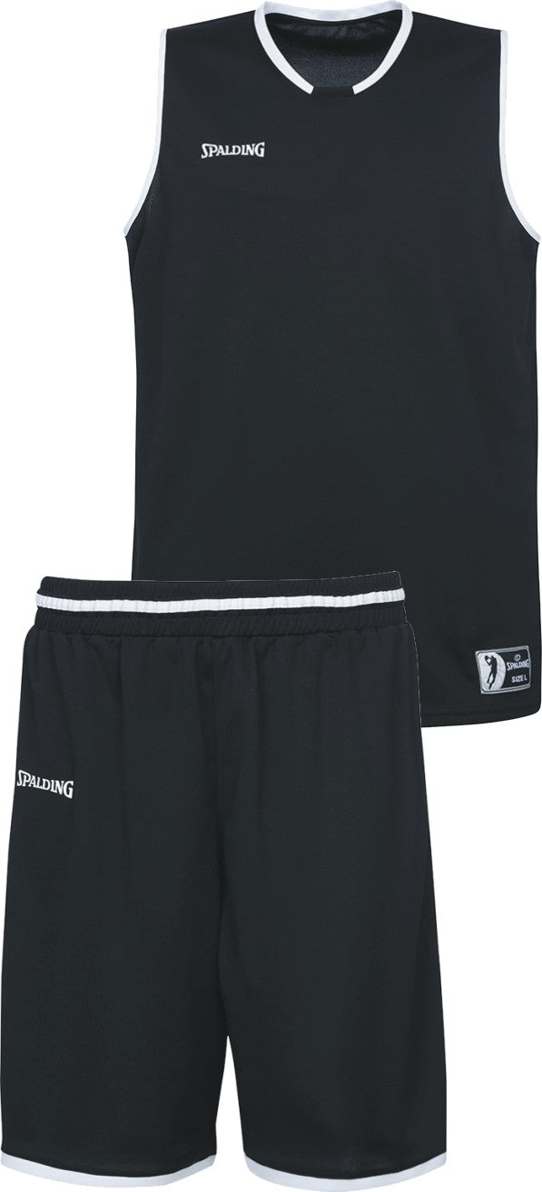 Teamwear - Spalding Kids' Move Kits - Black/White/Silver Grey - SP-3002140-01-3005140-01