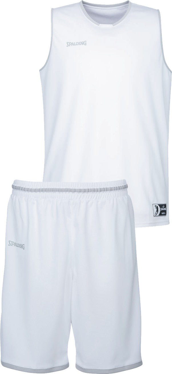 Teamwear - Spalding Kids' Move Kits - White/Silver Grey - SP-3002140-02-3005140-02