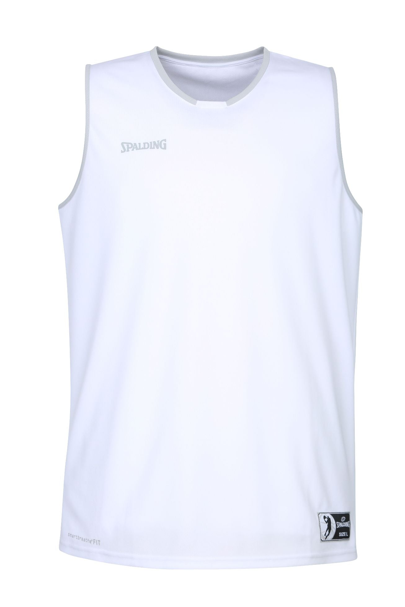 Teamwear - Spalding Kids' Move Jerseys - White/Silver Grey - SP-3002140-02