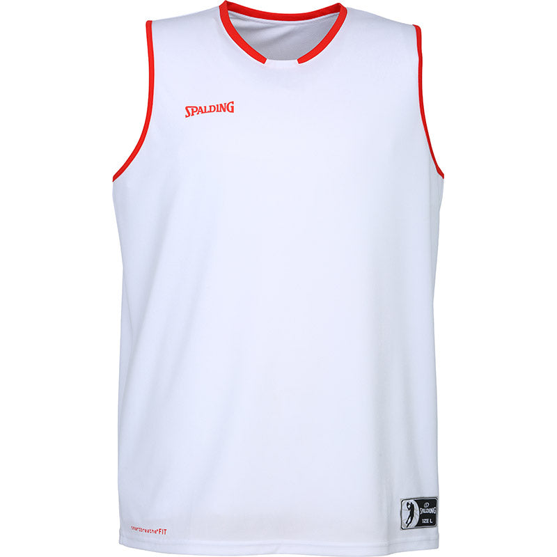 Teamwear - Spalding Kids' Move Jerseys - White/Red - SP-3002140-06