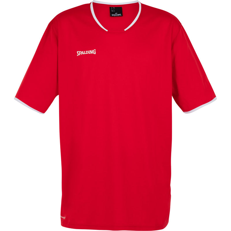Teamwear - Spalding Men's Move Short Sleeved Shooting Shirt - Red/White - SP-3002141-04