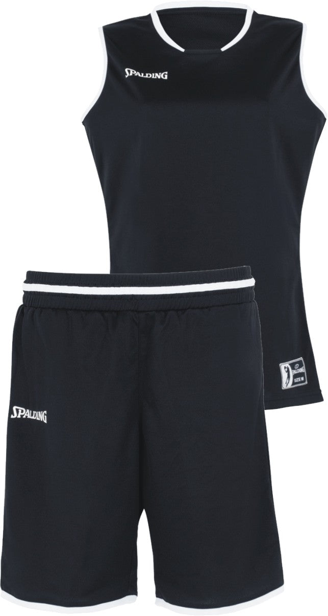 Teamwear - Spalding Women's Move Kits - Black/White/Silver Grey - SP-3002145-01-3005145-01