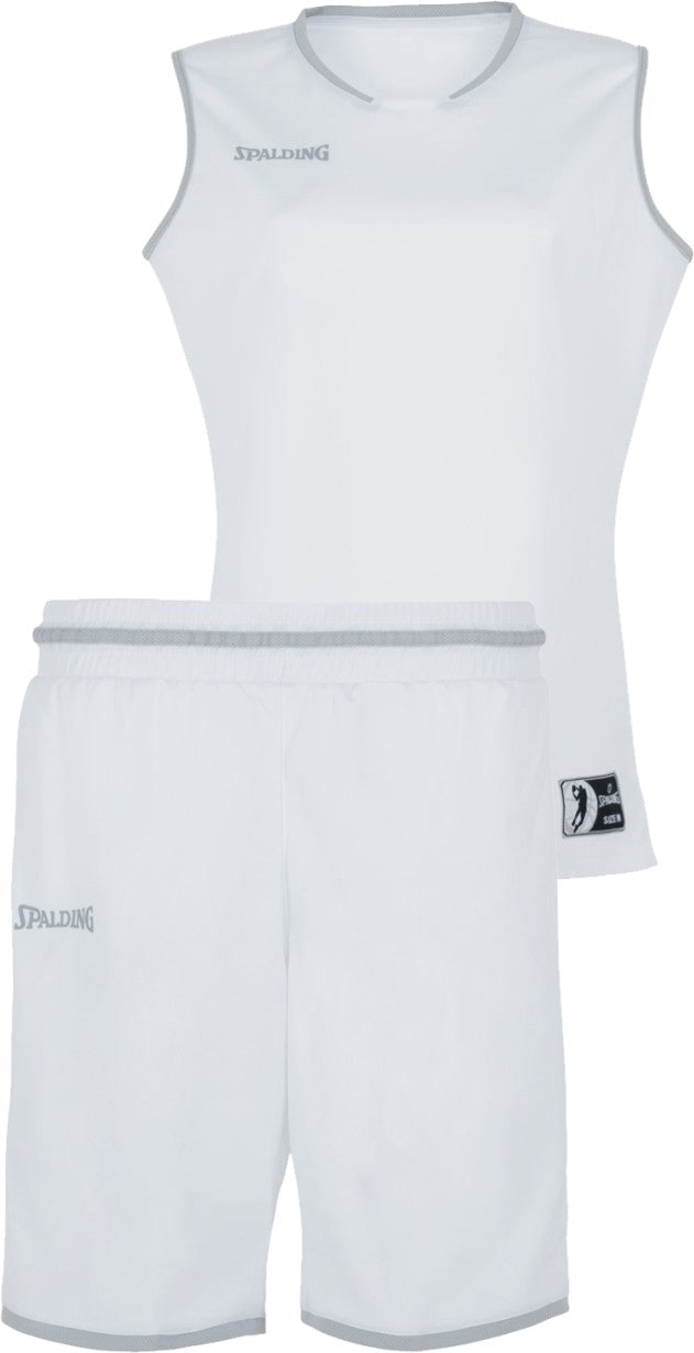 Teamwear - Spalding Women's Move Kits - White/Silver Grey - SP-3002145-02-3005145-02