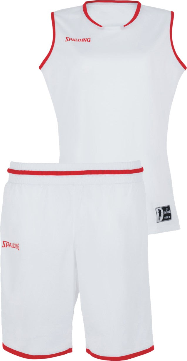 Teamwear - Spalding Women's Move Kits - White/Red - SP-3002145-06-3005145-06