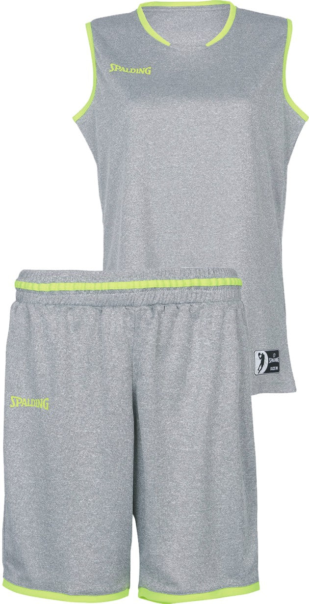 Teamwear - Spalding Women's Move Kits - Dark Grey Mellange/Fluo Yellow - SP-3002145-09-3005145-09