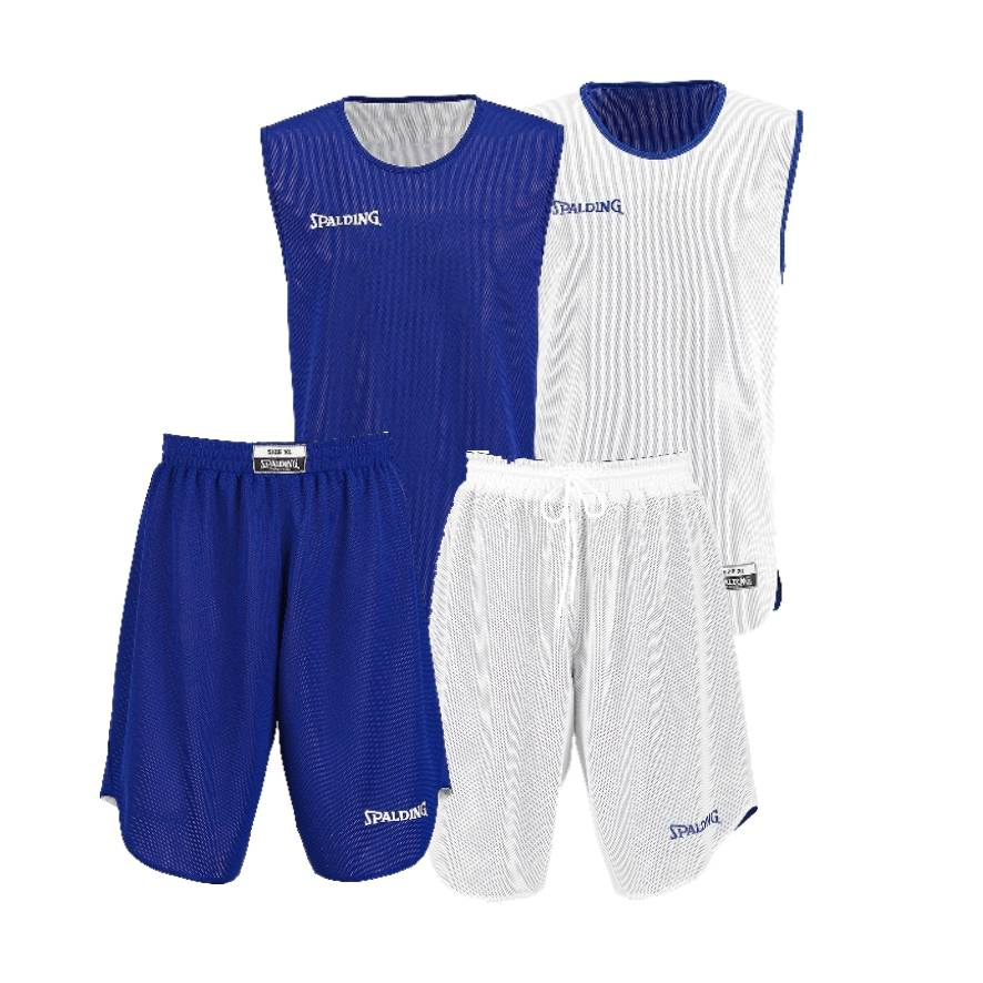 Teamwear - Spalding Doubleface Youth Reversible Kit - White/Royal Blue - SP-3004010-02