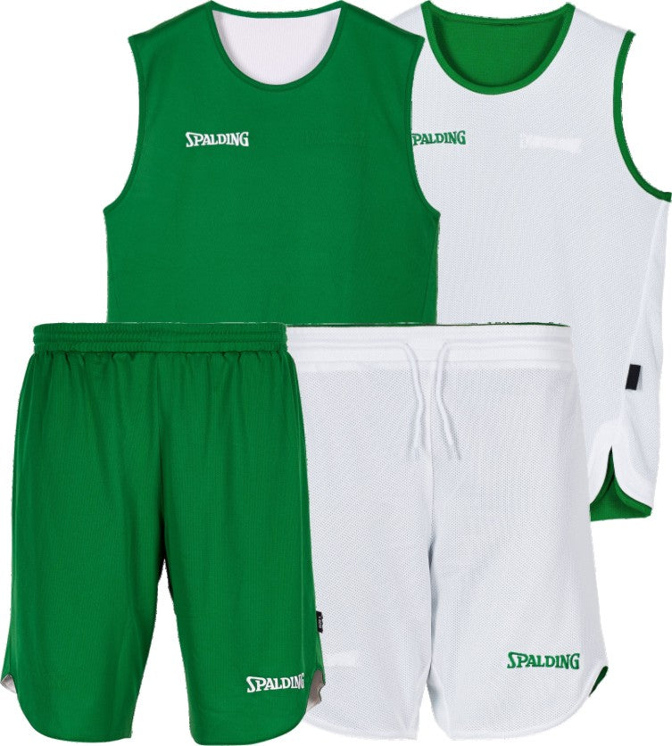 Teamwear - Spalding Doubleface Youth Reversible Kit - White/Green - SP-3004010-07