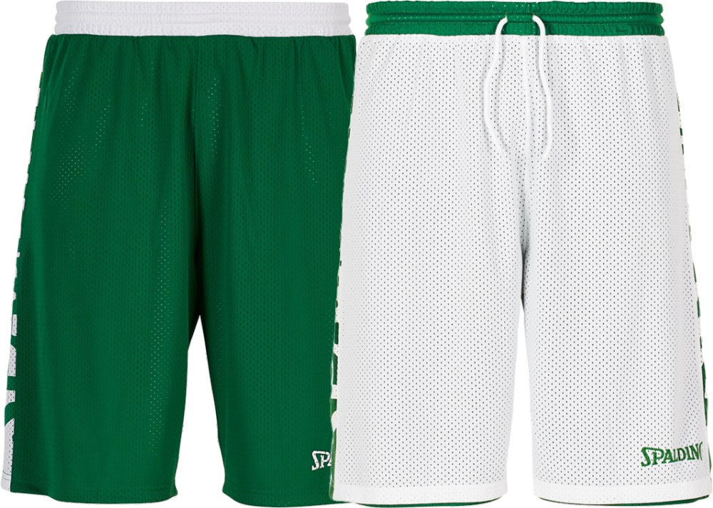 Teamwear - Spalding Essential Reversible Shorts (v2019) - Green/White - SP-3005025-04