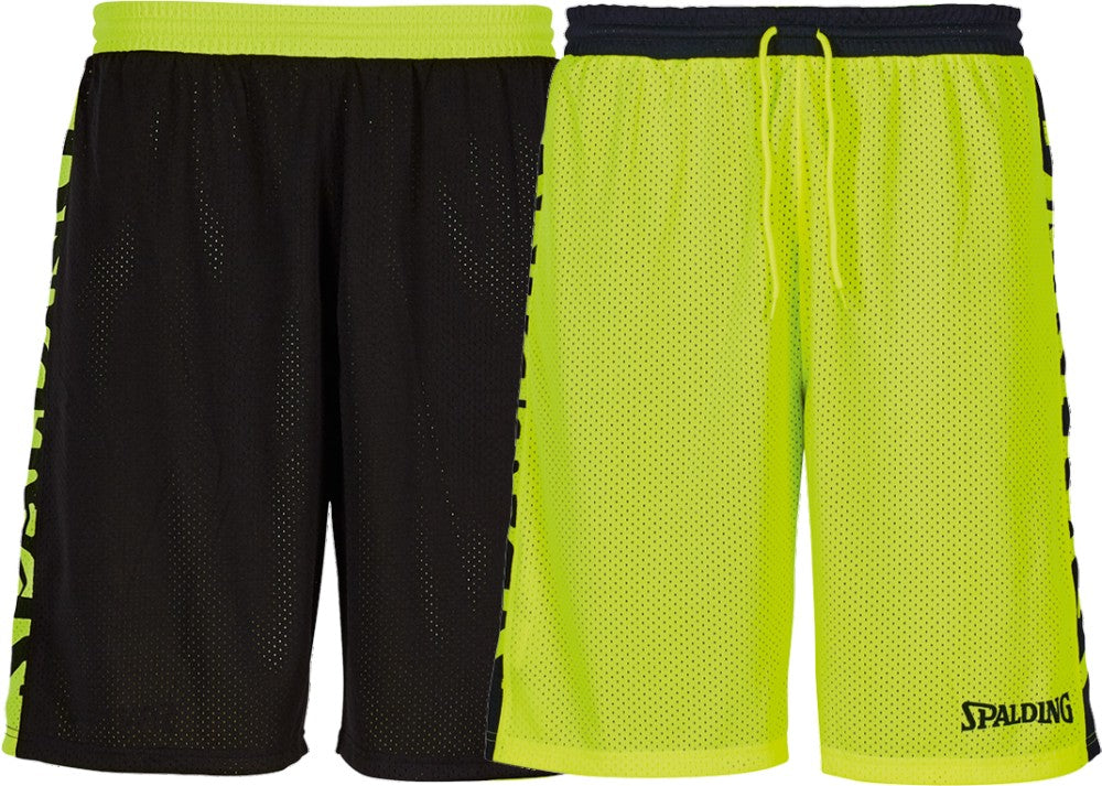 Teamwear - Spalding Essential Reversible Shorts (v2019) - Black/Neon Yellow - SP-3005025-05