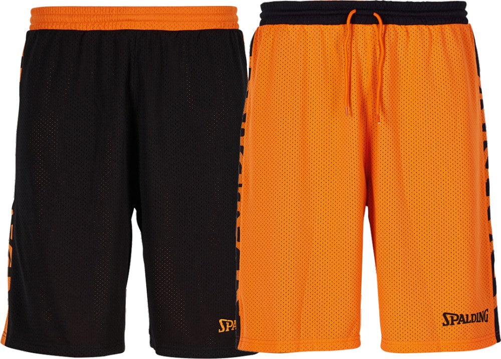 Teamwear - Spalding Essential Reversible Shorts (v2019) - Black/Orange - SP-3005025-06