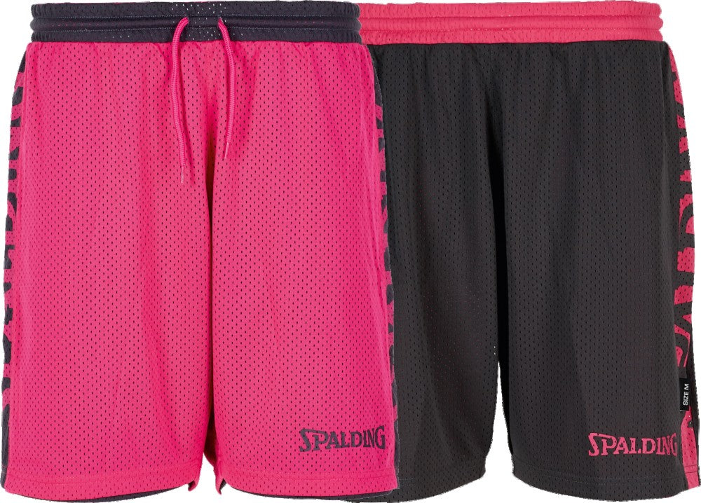 Teamwear - Spalding Women's Essential Reversible Shorts (v2019) - Anthra/Pink - SP-3005036-07