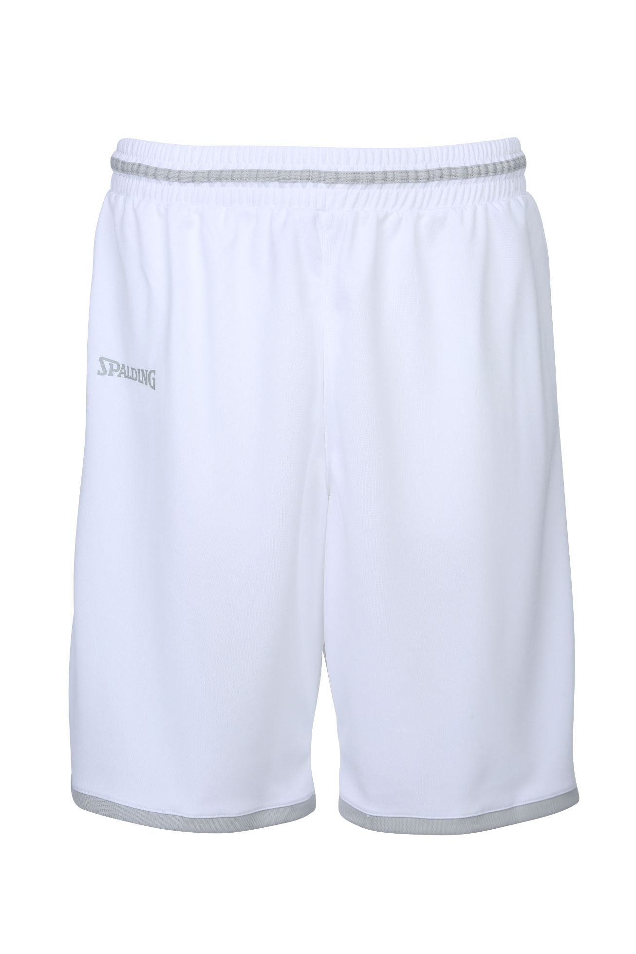 Teamwear - Spalding Men's Move Shorts - White/Silver Grey - SP-3002140-02-3005140-02