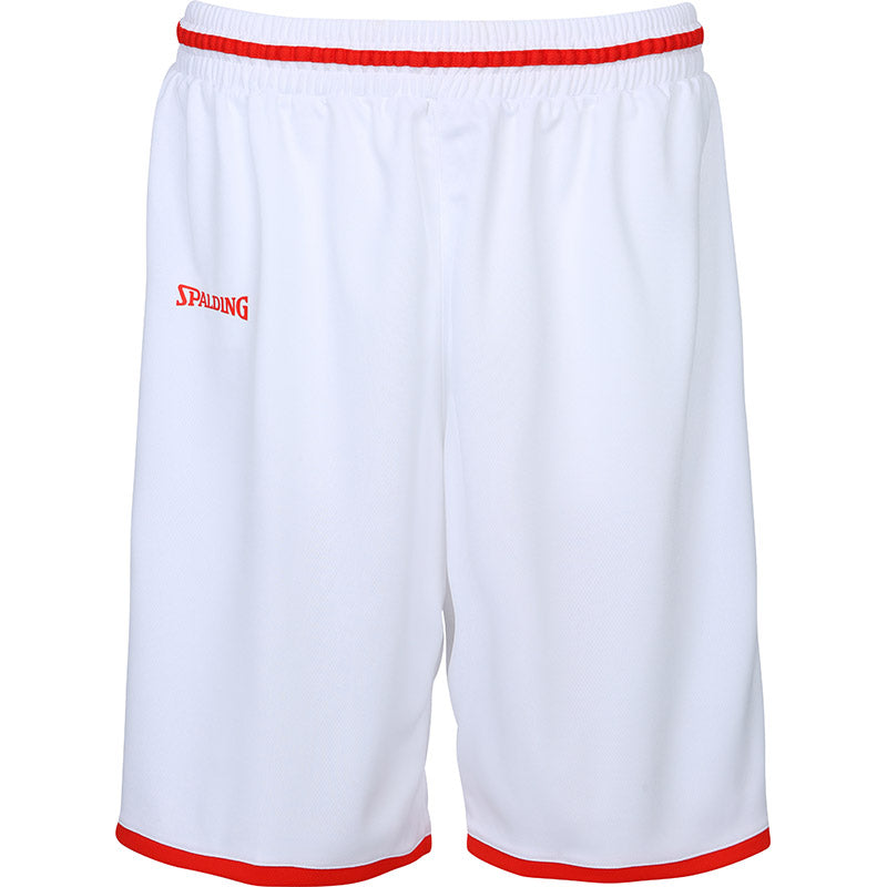 Teamwear - Spalding Men's Move Shorts - White/Red - SP-3002140-06-3005140-06