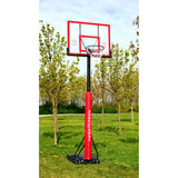 Sure Shot 510 U Just Basketball Hoop with Acrylic Backboard and Pole Padding - Clear / Black
