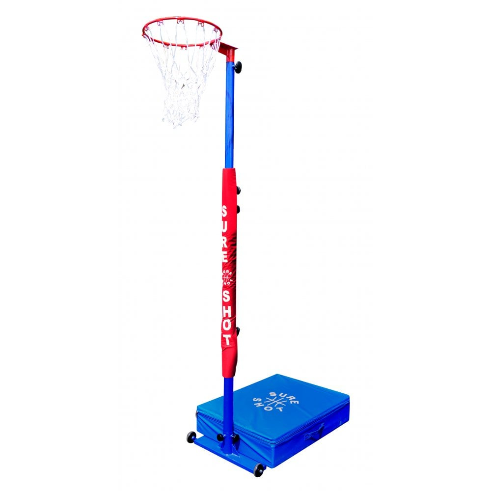 Sure Shot 540 Compact Hoops Unit (Basketball and Netball) with Pole Padding