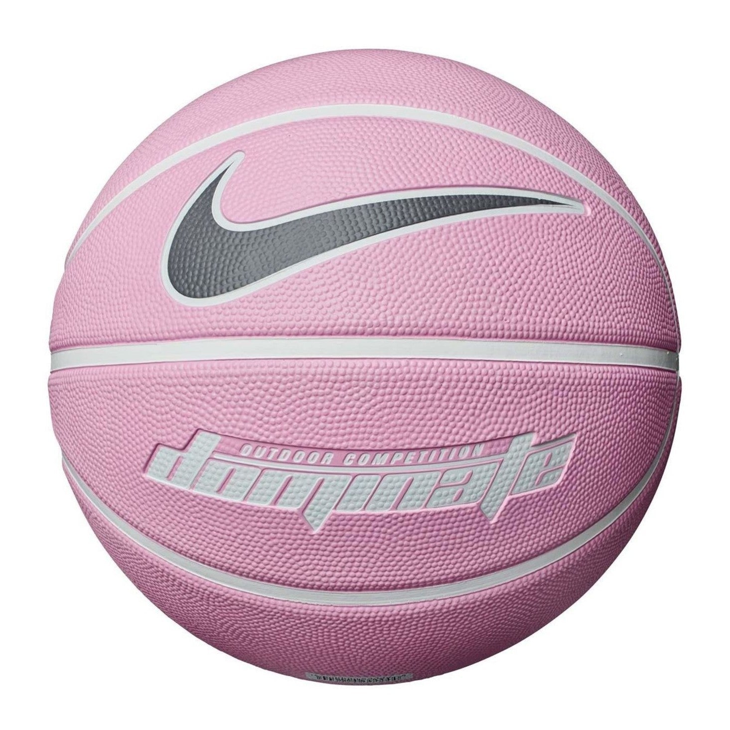 Nike Dominate 8 Panel Basketball - Size 6 - Pink Rise/White/Gunsmoke Grey