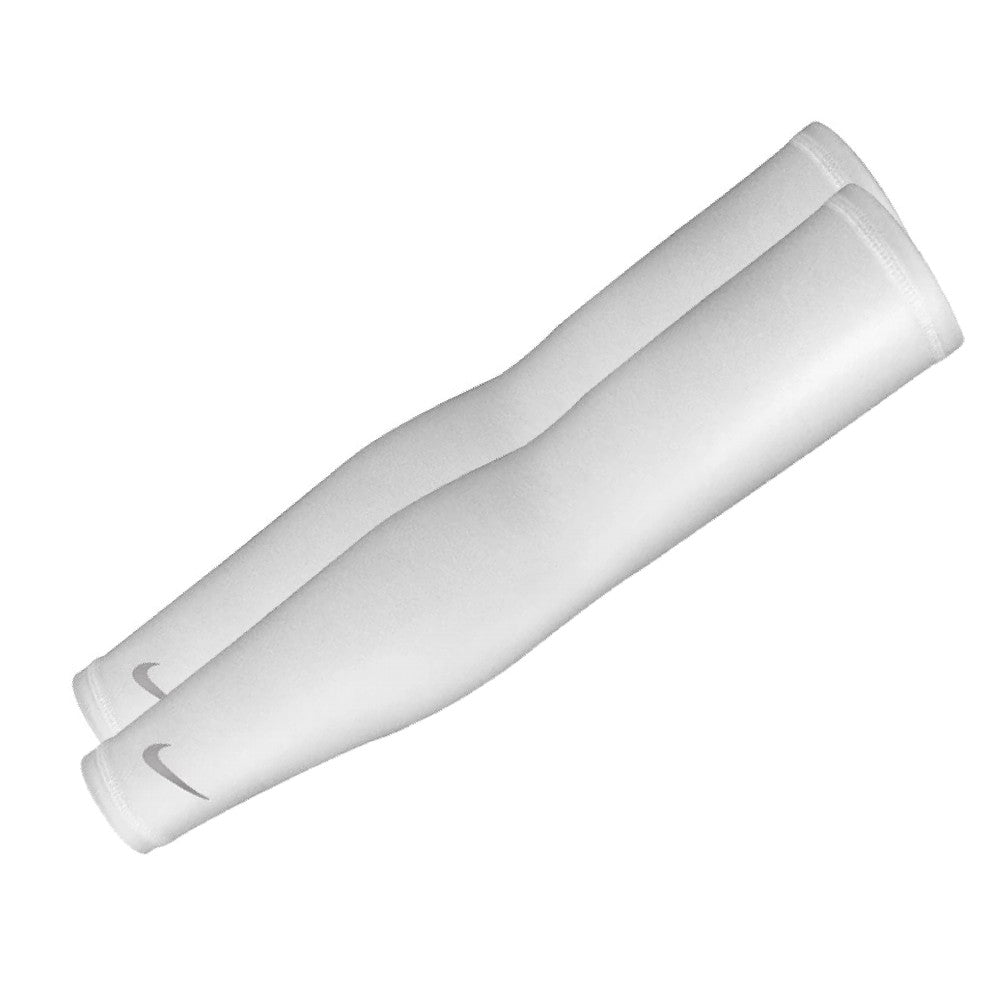 Nike Pack of 2 Arm Warmers / Basketball Shooting Sleeves - White/Silver