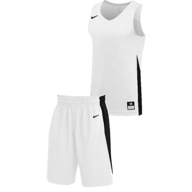 Teamwear - Nike Kids/Youth Team Basketball Stock Kit - White/Black - NK-NT0200-100-NT0202-Black