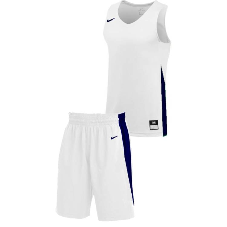 Teamwear - Nike Kids/Youth Team Basketball Stock Kit - White/Navy - NK-NT0200-101-NT0202-Blue