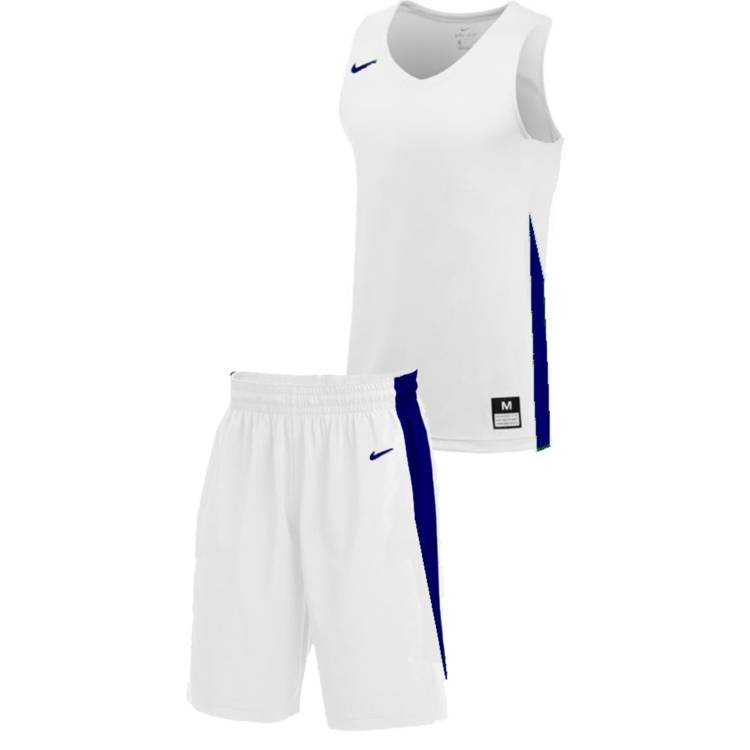 Teamwear - Nike Kids/Youth Team Basketball Stock Kit - White/Royal Blue - NK-NT0200-102-NT0202-Blue