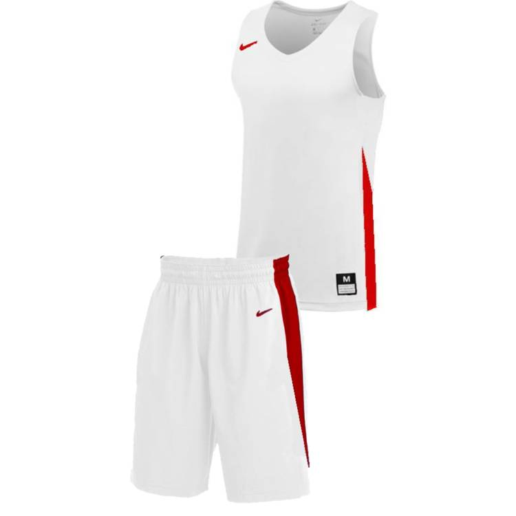 Teamwear - Nike Women's Team Basketball Stock Kit - White/University Red - NK-NT0211-103-NT0212-Red