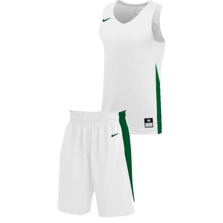 Teamwear - Nike Kids/Youth Team Basketball Stock Kit - White/Pine Green - NK-NT0200-104-NT0202-Green