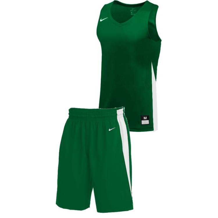 Teamwear - Nike Kids/Youth Team Basketball Stock Kit - Pine Green/White - NK-NT0200-302-NT0202-White