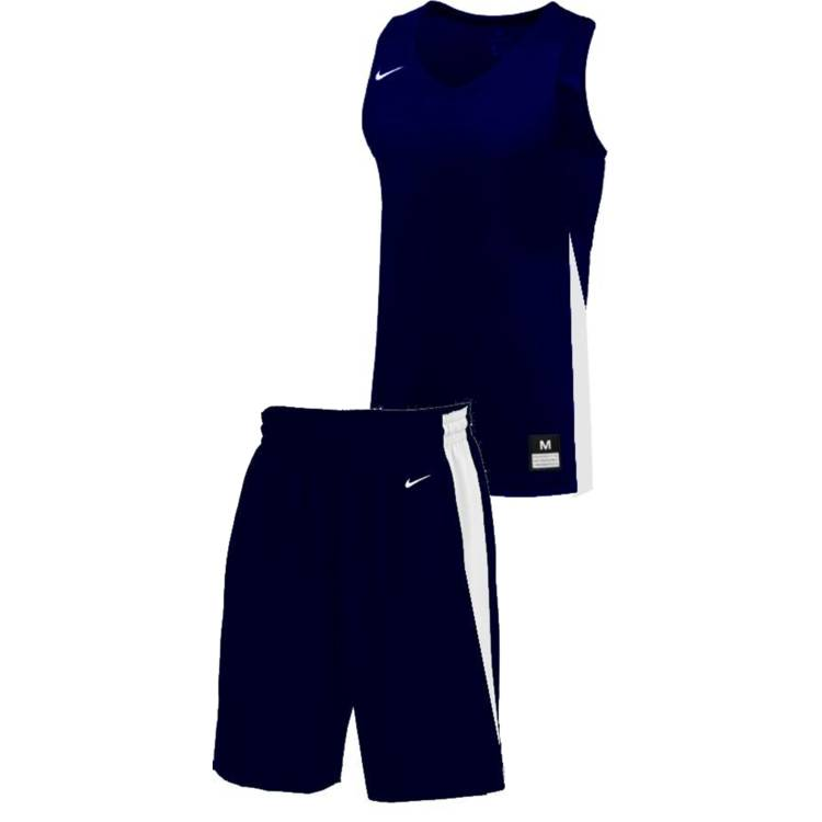 Teamwear - Nike Kids/Youth Team Basketball Stock Kit - Navy/White - NK-NT0200-451-NT0202-White