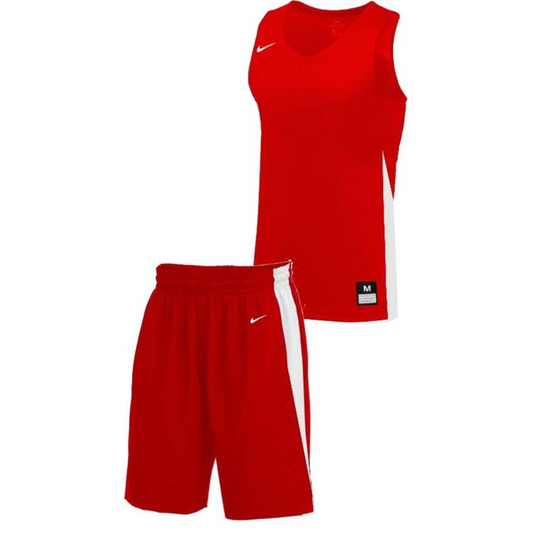 Teamwear - Nike Kids/Youth Team Basketball Stock Kit - University Red/White - NK-NT0200-657-NT0202-White